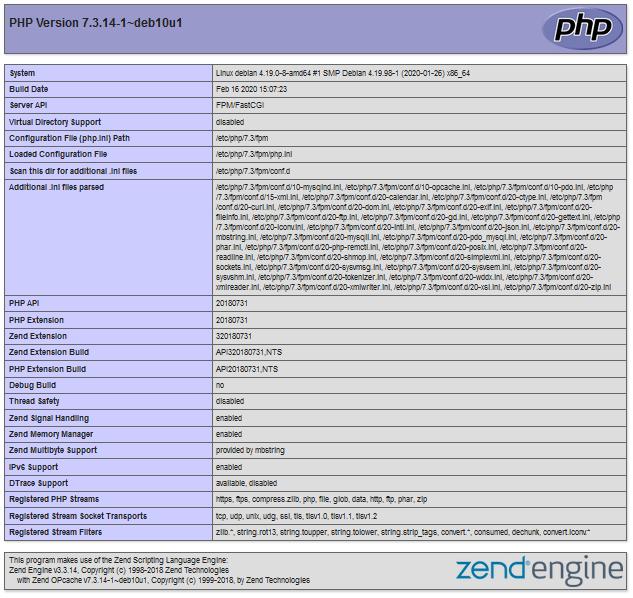 PHP-FPM Dienst installieren und in NGINX einbinden