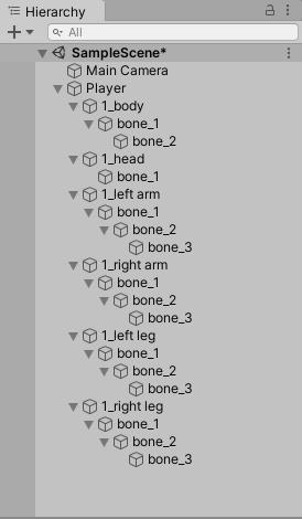 Unity Bones Hierarchy